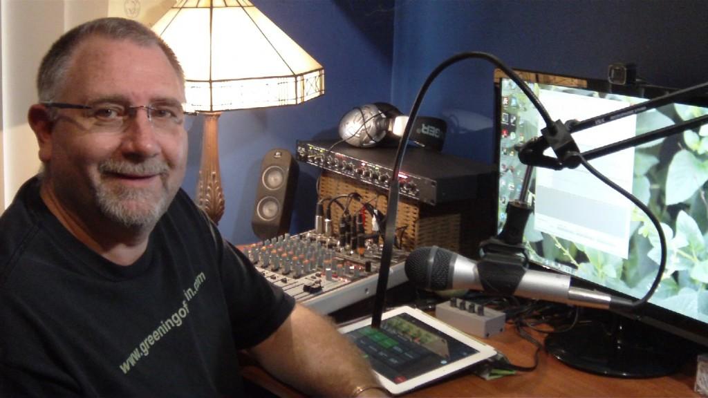 Gavin Webber in his home recording studio