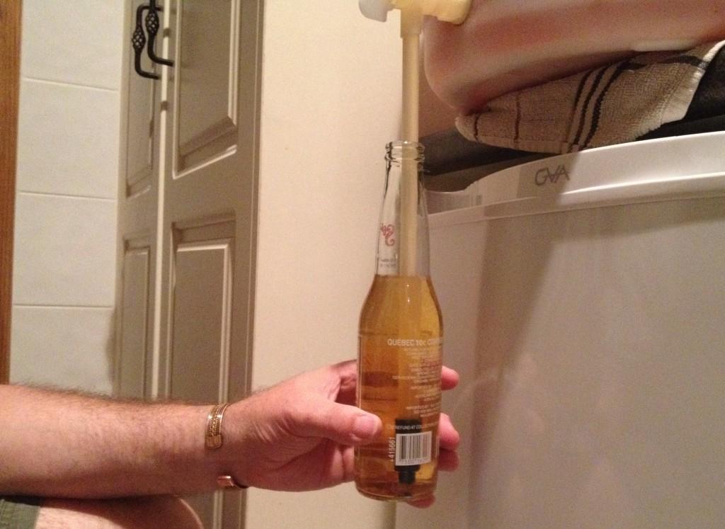 Filling beer bottles