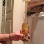 Filling beer bottles