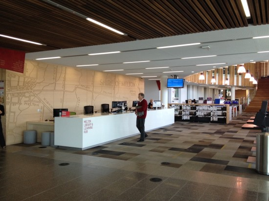 Melton Library and Learning Hub reception