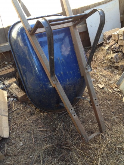 Repairing my wheelbarrow