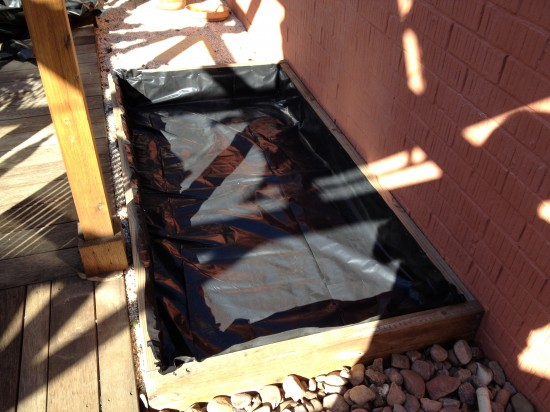 Wicking Bed lined with builders plastic