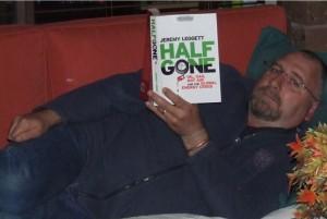 Gavin reading Half Gone