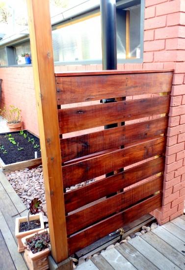 Upcycled hardwood pallet