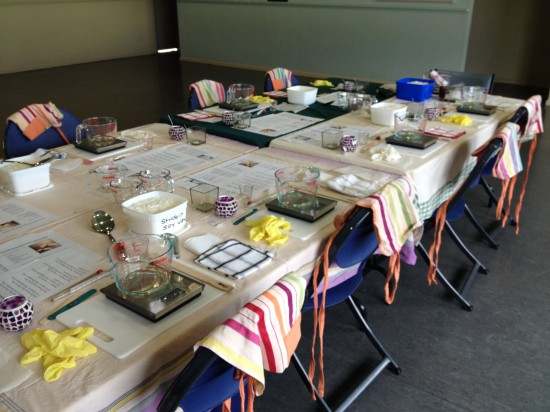 Greening our business - soy candle making workshop