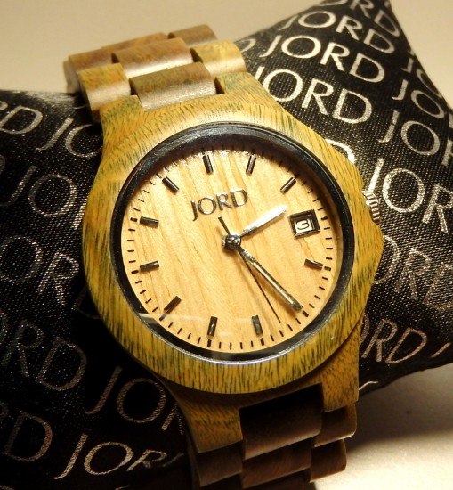 Wooden Watch - Ely - Natural Green & Maple