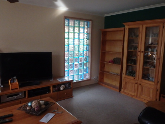 Installed Glass Brick Window