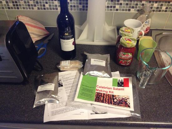 Salami kit contents