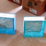 Coloured glass bricks