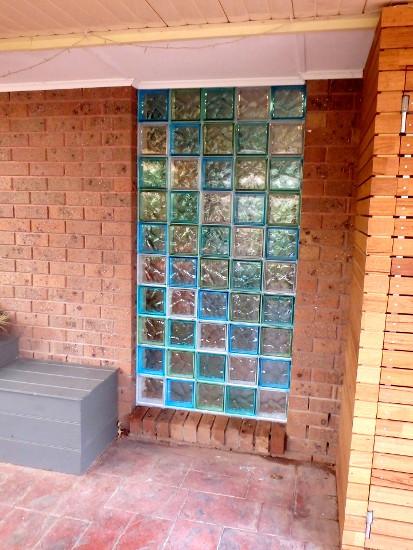Outside Glass Brick Window