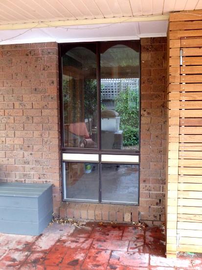 Outside view single glazed window