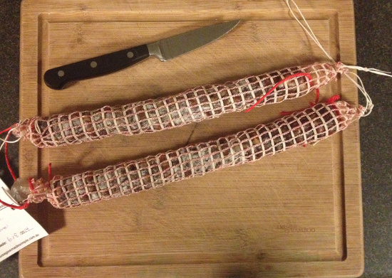 Homemade Salami four weeks cured