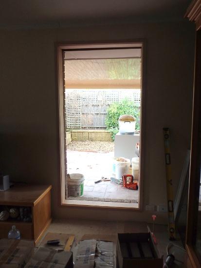 Empty window frame