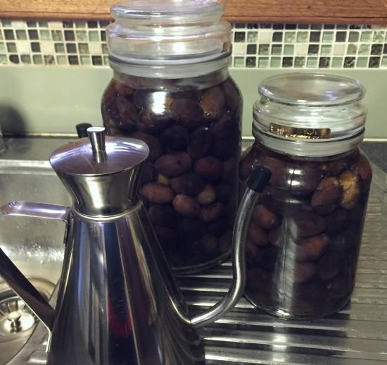 Curing Black Olives in brine