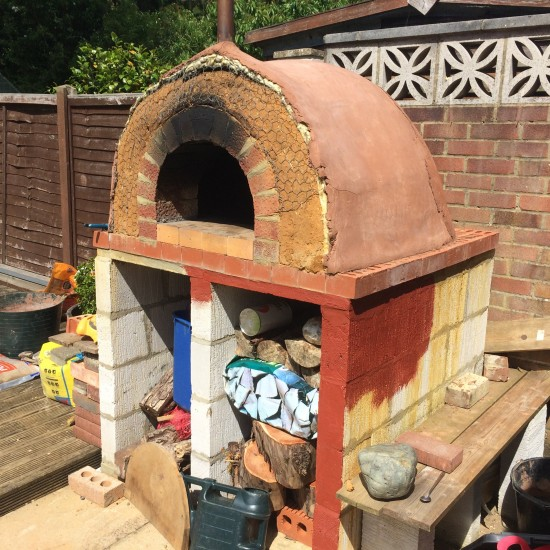 Nearly finished clay oven