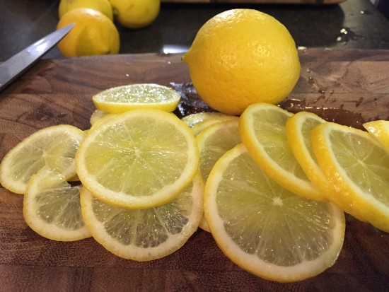 Sliced Limes for 2 fruit Marmalade