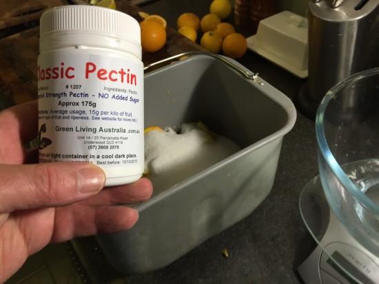 Add the Pectin to 2 fruit Marmalade