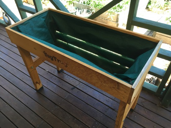 VegTrug Repaired with shade cloth