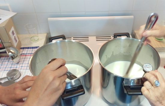 Preventing the milk from burning