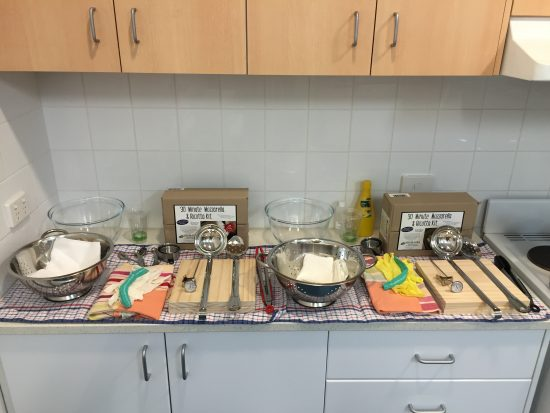 Beginners Cheesemaking Course - setup