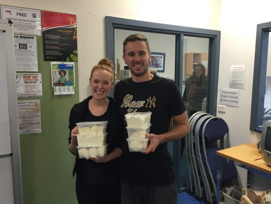 Emily and Petar with their cheese