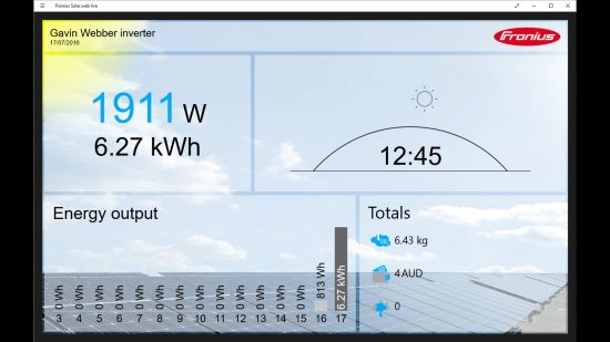 Solar Web app Windows 10